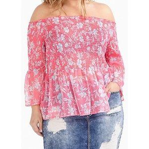 Love & Legend off-shoulder peasant blouse size 26